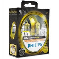 Komplet žarnic Philips H4 ColorVision Yellow 12V 60/55W