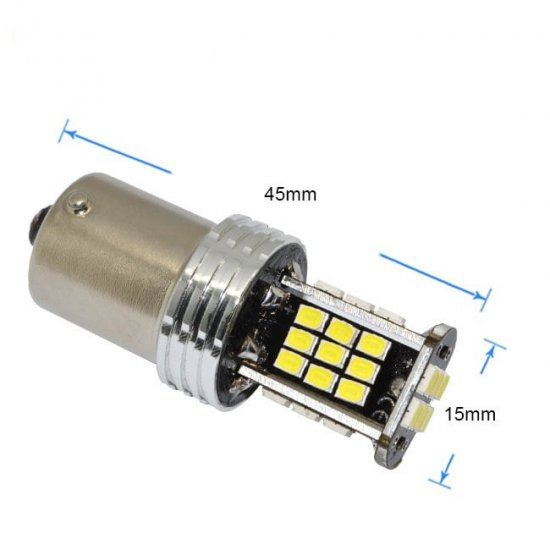 LED žarnica BA15S 1156 30SMD 3020 can-bus