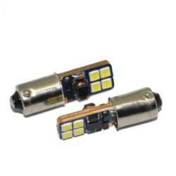 LED žarnica BA9S 8SMD can-bus