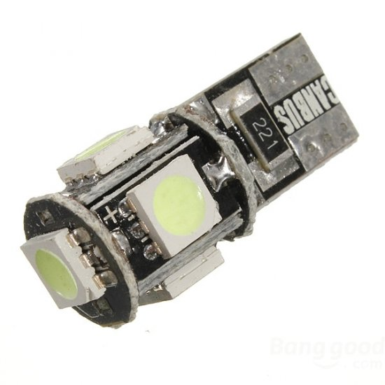 LED žarnica T10 W5W 5SMD can-bus